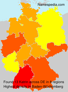 Familiennamen Katrin - Germany