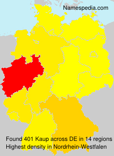 Familiennamen Kaup - Germany