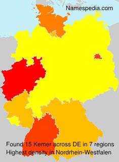 Surname Kemer in Germany