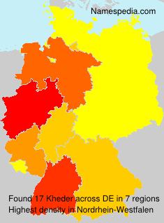 Familiennamen Kheder - Germany
