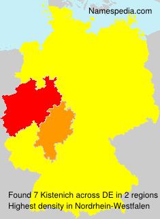 Surname Kistenich in Germany