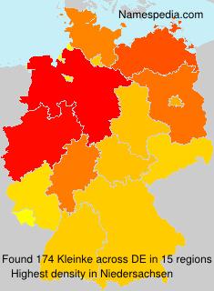 Familiennamen Kleinke - Germany