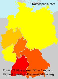 Surname Kloe in Germany