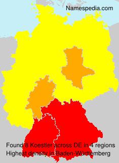 Familiennamen Koestler - Germany
