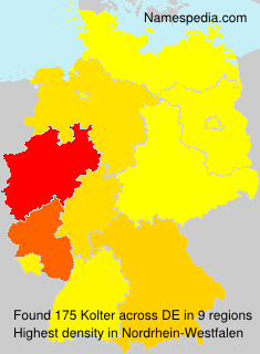 Surname Kolter in Germany