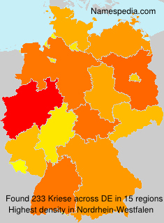 Surname Kriese in Germany