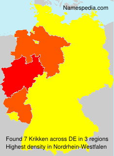 Surname Krikken in Germany