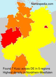 Familiennamen Kusz - Germany