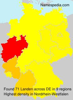 Familiennamen Landen - Germany