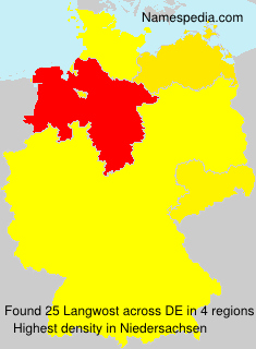 Surname Langwost in Germany