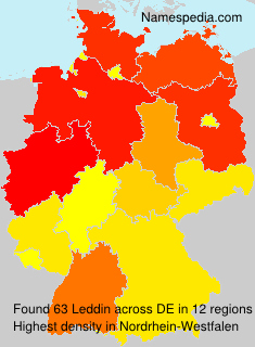 Familiennamen Leddin - Germany
