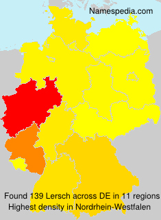 Surname Lersch in Germany