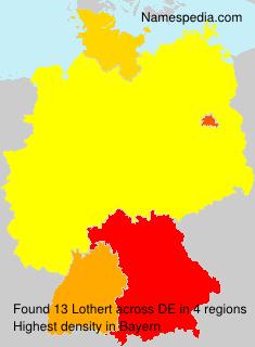 Familiennamen Lothert - Germany