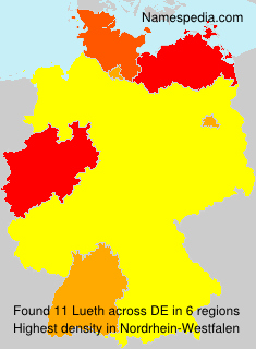 Surname Lueth in Germany