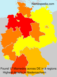 Familiennamen Mamedov - Germany