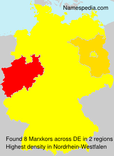 Surname Marxkors in Germany