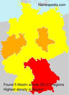 Surname Maslin in Germany