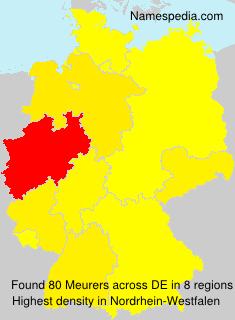 Surname Meurers in Germany
