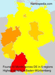 Familiennamen Montis - Germany