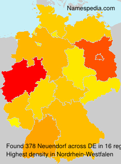Surname Neuendorf in Germany