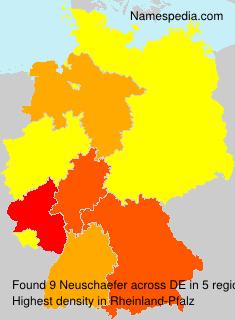 Familiennamen Neuschaefer - Germany