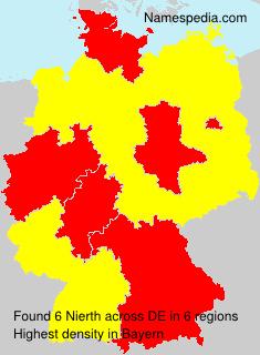 Surname Nierth in Germany