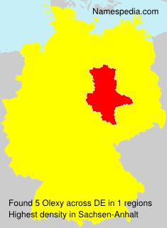 Familiennamen Olexy - Germany