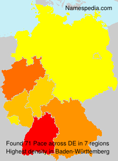 Surname Pace in Germany