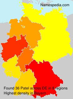 Familiennamen Patel - Germany