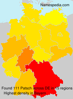 Surname Patsch in Germany