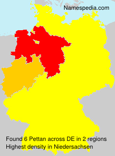 Familiennamen Pettan - Germany