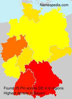 Familiennamen Piri - Germany