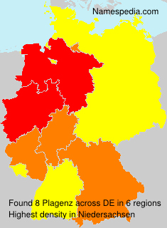 Surname Plagenz in Germany