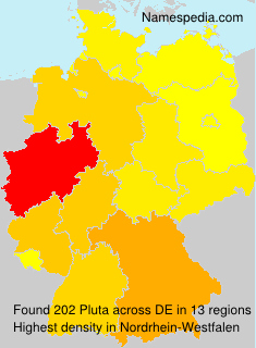 Surname Pluta in Germany