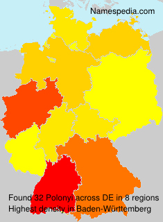 Surname Polonyi in Germany