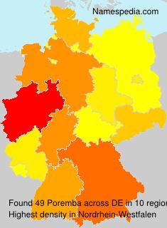 Familiennamen Poremba - Germany