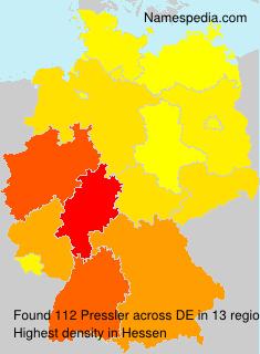 Surname Pressler in Germany