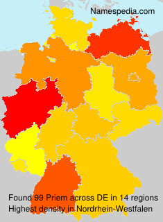 Surname Priem in Germany