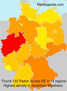 Familiennamen Radon - Germany