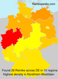 Familiennamen Reinike - Germany