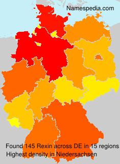 Familiennamen Rexin - Germany