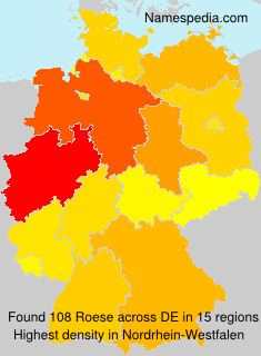 Surname Roese in Germany