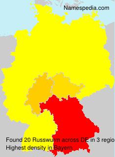 Familiennamen Russwurm - Germany