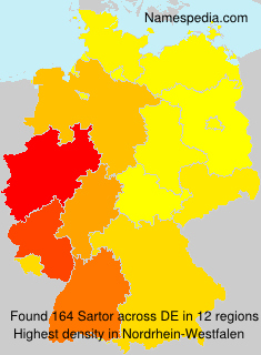 Surname Sartor in Germany