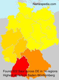 Surname Saur in Germany