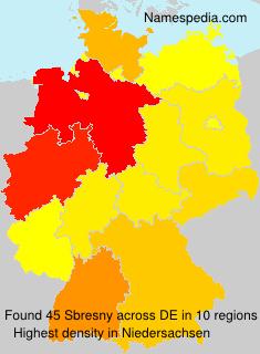 Familiennamen Sbresny - Germany