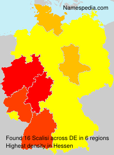 Surname Scalisi in Germany