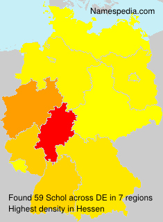 Surname Schol in Germany