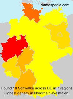 Familiennamen Schwalke - Germany