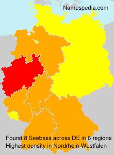 Familiennamen Seebass - Germany